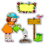 Jogo de jardinagem ilustração royalty free