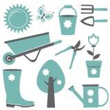 Jogo de jardinagem Fotografia de Stock