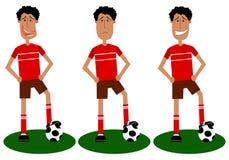 Jogo de jogadores de futebol ilustração do vetor