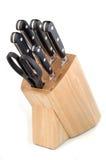 Jogo de Knifes Fotografia de Stock Royalty Free