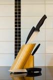 Jogo de knifes da cozinha Foto de Stock Royalty Free