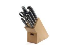 Jogo de knifes da cozinha Fotografia de Stock Royalty Free