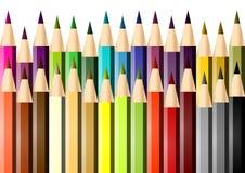 Jogo de lápis coloridos ilustração stock