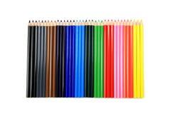 Jogo de lápis coloridos foto de stock