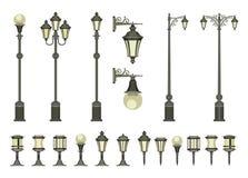 Jogo de lâmpadas de rua ilustração royalty free