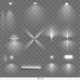 Jogo de lâmpadas diferentes ilustração stock