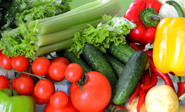 Jogo de legumes frescos Fotos de Stock Royalty Free