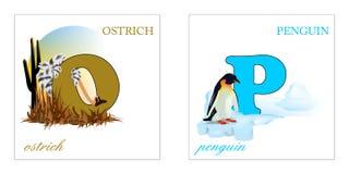 Jogo de letras do alfabeto, O-P Foto de Stock