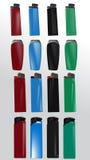 Jogo de ligherts plásticos Fotografia de Stock