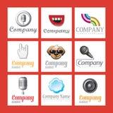 Jogo de logotipos da companhia Fotos de Stock