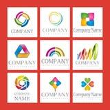 Jogo de logotipos da companhia Imagem de Stock Royalty Free