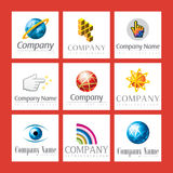 Jogo de logotipos da companhia Imagens de Stock Royalty Free