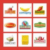 Jogo de logotipos da companhia Imagem de Stock