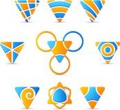 Jogo de logotipos da companhia. Fotos de Stock Royalty Free
