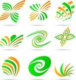 Jogo de logotipos da companhia. Imagem de Stock Royalty Free