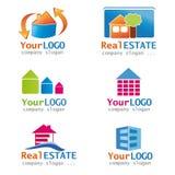 Jogo de logotipos dos bens imobiliários Fotografia de Stock