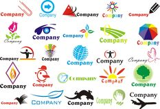 Jogo de logotips abstratos Fotografia de Stock Royalty Free