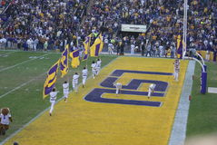 Jogo de LSU Foto de Stock Royalty Free