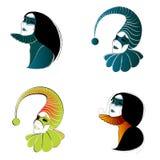 Jogo de máscaras bonitas do carnaval Imagens de Stock