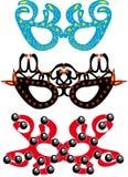 Jogo de máscaras do carnaval Imagem de Stock