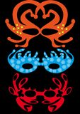 Jogo de máscaras do carnaval Imagens de Stock Royalty Free