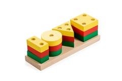 Jogo de madeira do enigma foto de stock