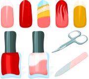 Jogo de Manicure ilustração royalty free