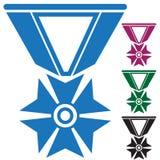 Jogo de medalhas do exército ilustração royalty free