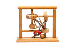 Jogo de mente de madeira Fotos de Stock Royalty Free