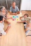 Jogo de mesa da família Imagem de Stock Royalty Free