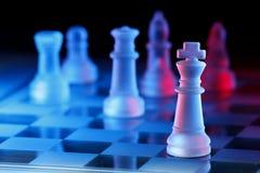 Jogo de mesa da xadrez Imagens de Stock
