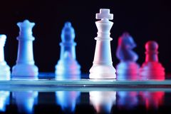 Jogo de mesa da xadrez Foto de Stock