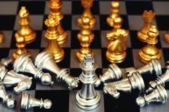 Jogo de mesa da xadrez, conceito competitivo do negócio, situação do encontro, perdendo e ganhando fotos de stock royalty free