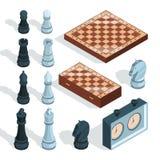 Jogo de mesa da xadrez A gralha tática estratégica do checkmate do entretenimento remenda figuras vetor do cavaleiro do alcazar i ilustração stock