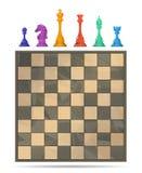 Jogo de mesa da xadrez ilustração royalty free