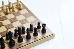 Jogo de mesa da xadrez, situação difícil do encontro, conceito competitivo do negócio imagem de stock royalty free