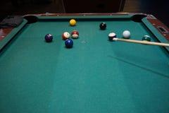 Jogo de mesa de bilhar Foto de Stock
