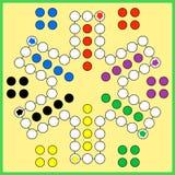 Jogo de mesa de Ludo Imagem de Stock Royalty Free