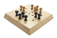 Jogo de mesa de madeira Fotografia de Stock Royalty Free