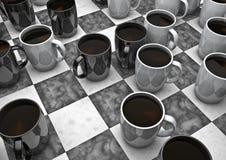 Jogo de mesa do café Imagem de Stock Royalty Free