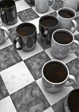 Jogo de mesa do café Fotos de Stock Royalty Free