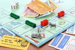 Jogo de mesa do monopólio Fotos de Stock