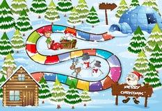 Jogo de mesa do Natal Foto de Stock