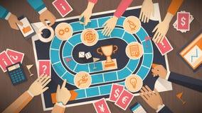 Jogo de mesa do negócio e da competição ilustração stock