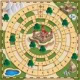 Jogo de mesa do tema medieval ilustração stock