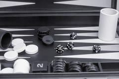 Jogo de mesa preto e branco fotos de stock