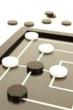 Jogo de mesa preto e branco fotografia de stock