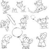 jogo de miúdos engraçados Imagens de Stock Royalty Free