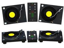 Jogo de mistura do DJ Imagens de Stock