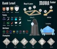 Jogo de MOBA Imagem de Stock Royalty Free